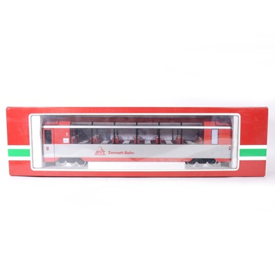 Lot 89 - LGB G scale, Zermatt-Bahn observation passenger coach, no.31660, boxed.