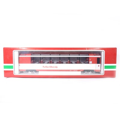 Lot 90-LGB G scale, Furka-Oberalp observation passenger coach, no.30660, boxed.