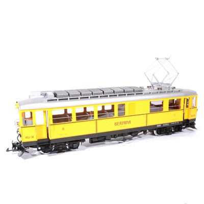 Lot 95-LGB electric, G scale, railcar RhB Museum Abe 4/4 'Bernina' locomotive, with sound, no.21392, boxed.