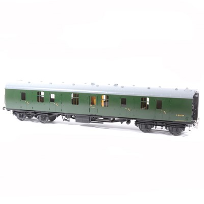 Lot 64-Tower Brass Models, gauge 1 / G scale, 45mm passenger coach, BR green, no.S80579, boxed.