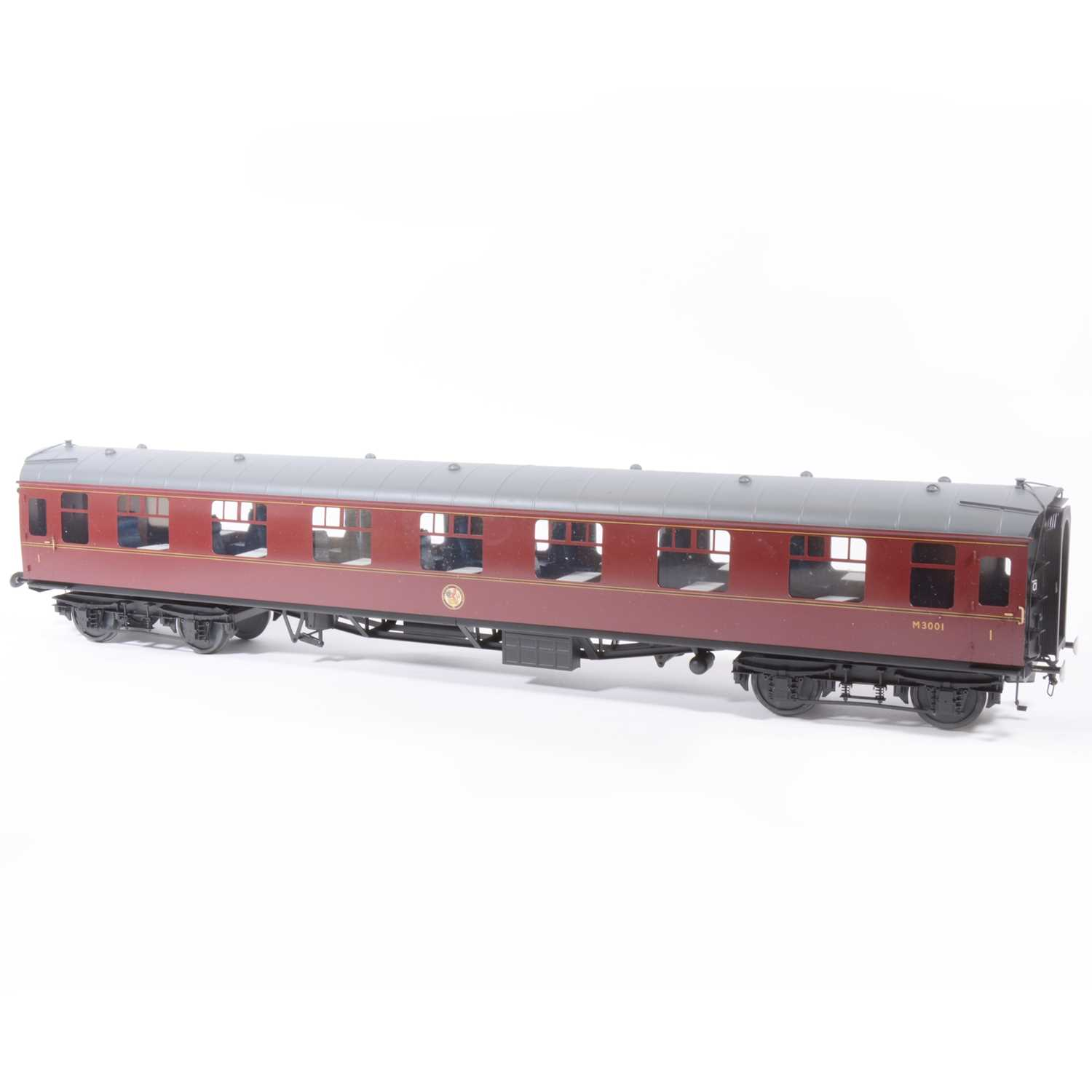 65 - Tower Brass Models, gauge 1 / G scale, 45mm passenger coach, BR maroon no.M3001, boxed.
