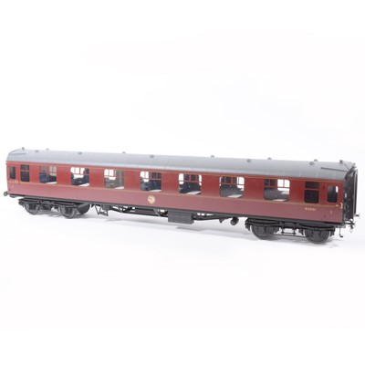Lot 65-Tower Brass Models, gauge 1 / G scale, 45mm passenger coach, BR maroon no.M3001, boxed.