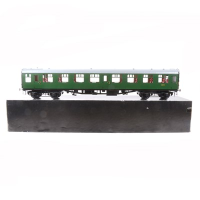 Lot 66-Tower Brass Models, gauge 1 / G scale, 45mm passenger coach, BR green no.S3812, boxed.