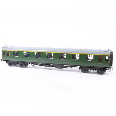 Lot 68-Tower Brass Models, gauge 1 / G scale, 45mm passenger coach, BR green no.S3065, boxed.