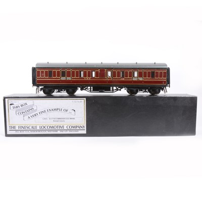 Lot 69-The Finescale Locomotive Company, gauge 1 / G scale, 45mm passenger coach, LMS no.145, boxed.