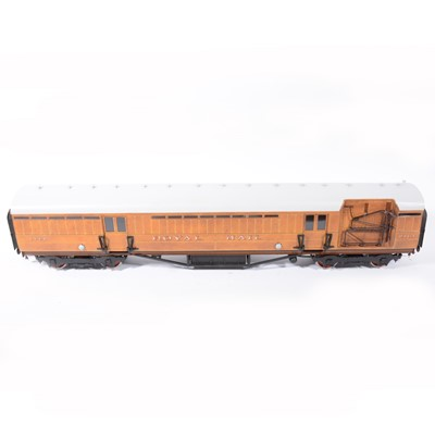 Lot 72 - The Finescale Locomotive Company passenger coaches, gauge 1 / G scale, 45mm, rake of three LNER 'Teak' no.441 (x2), no.2151, (3).