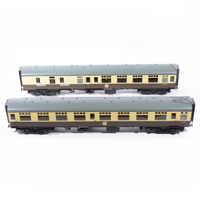 Lot 76 - The Gauge 1 model co G scale, 45mm passenger coaches, BR W24746, W34888, W24380 (x2), W24751, W35188, (6).