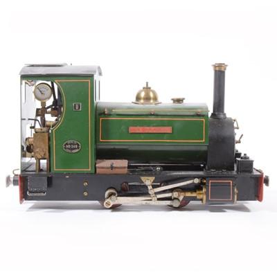 Lot 79 - Merlin Loco Works live steam, gauge 1 / G scale, 32mm locomotive, 'The Duchess' 0-4-0 no.5400, green.