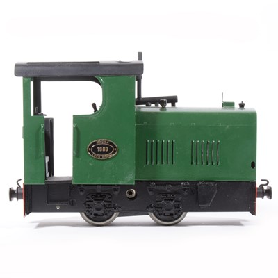 Lot 80-Magna Loco Works electric, gauge 1 / G scale, 45mm locomotive, 0-4-0 no.1989, green, with Brandbright chassis.