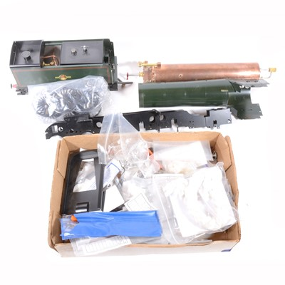Lot 81-Aster Hobby live steam, gauge 1 / G scale, 45mm locomotive and tender, a part built models of the BR A3 class Pacific, with booklet, orignial box, unchecked.