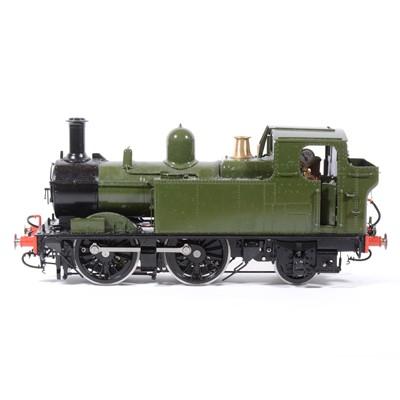 Lot 82 - Bowande live steam, gauge 1 / G scale, 45mm locomotive, 14xx class 0-6-0, green, boxed.