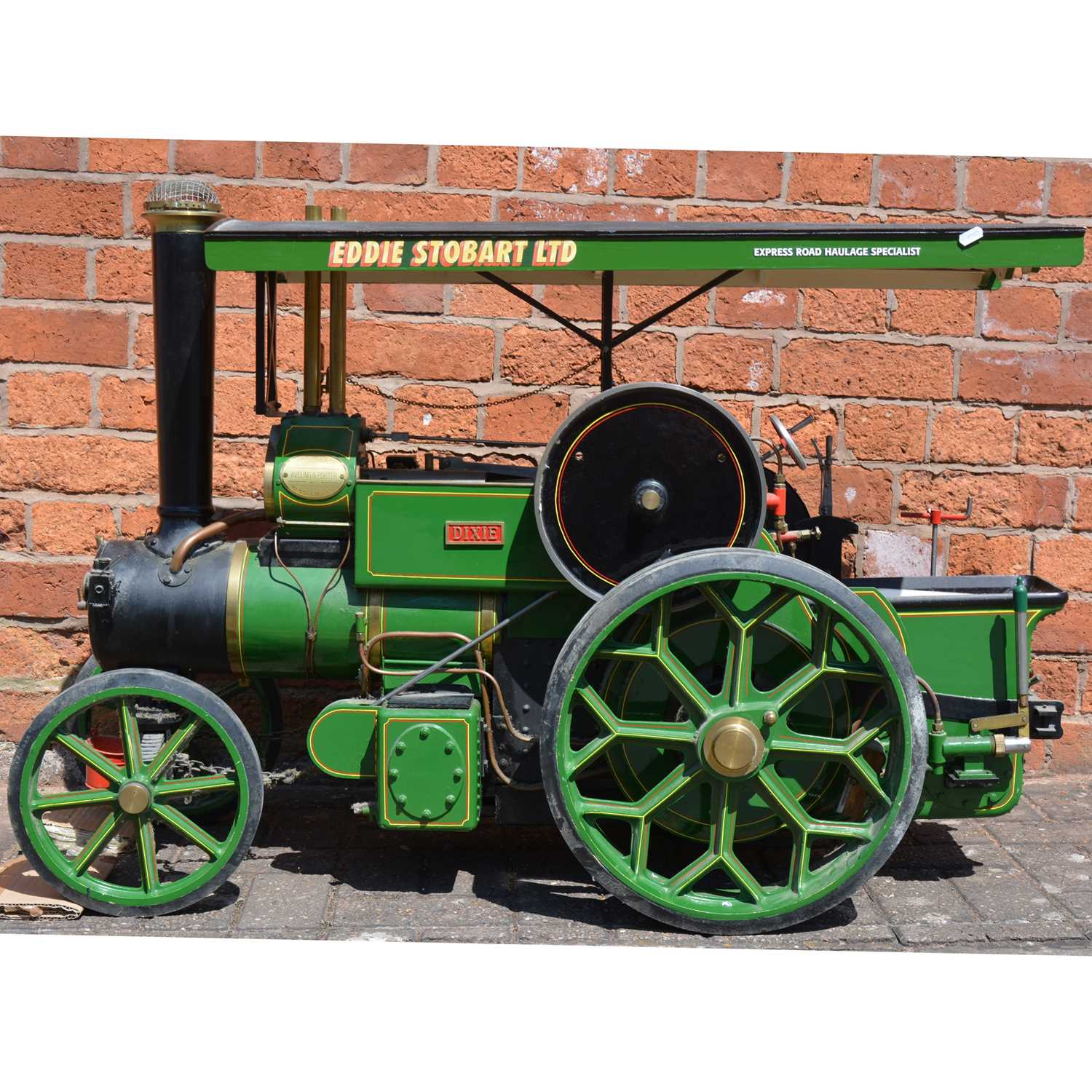 128 - Maxitrak live steam 3inch scale Aveling & Porter road roller, length 119cm, height 74cm, width 47cm, with copper TIG welded boiler, with added canopy.