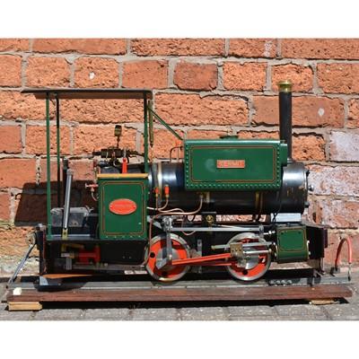 Lot 122 - Maxitrak live steam 5inch gauge Kerr Stuart Wren design locomotive, 0-4-2, in carry case.