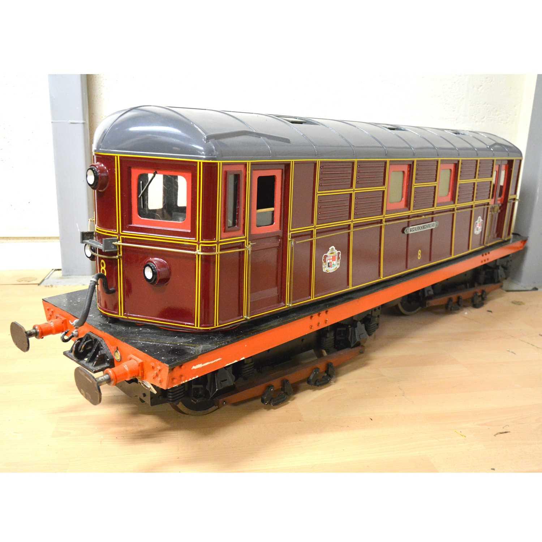 124 - Electric 7 1/4 inch gauge locomotive, Metropolitan Railways electric 'Sherlock Holmes' 145cm length.