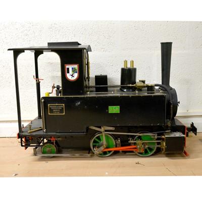 Lot 125 - Live steam 7 1/4 inch gauge locomotive, Orenstein & Koppel 0-4-2 tank engine, RhB no.1032, 83cm length.