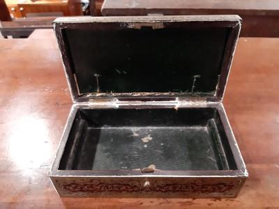 Lot 1112-A George V boulle work box, by Asprey, London