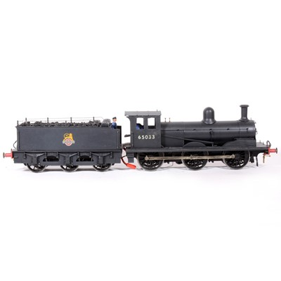 Lot 83-Malcolm Mills Model Engineer gauge 1 / G scale, 45mm electric locomotive, 0-6-0, class J21 freight no.65033, BR black livery, with tender.