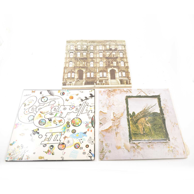 Lot 17-Three Led Zeppelin LP Vinyl Records