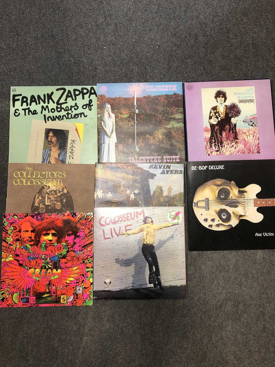 Lot 22-Eight vinyl LP records, mostly Psychedelic rock music.
