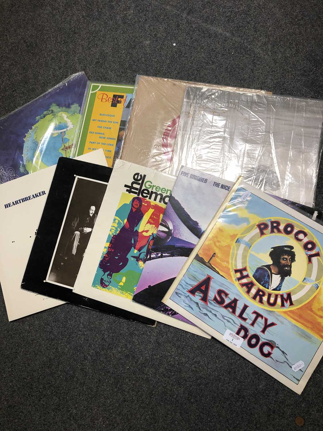 Lot 1-Nine vinyl LP records mostly Progressive Rock and Psychedelic Rock music