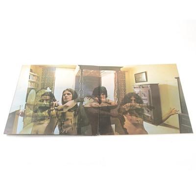Lot 3-Seven Black Sabbath vinyl LP records.