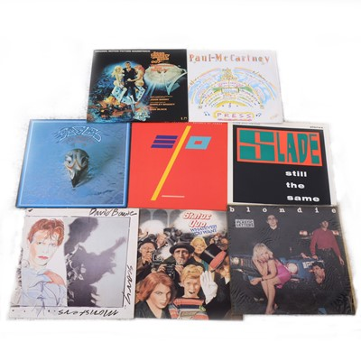 "Lot 11-Aprox 95 vinyl LP and 12"" singles; mostly pop and rock music."