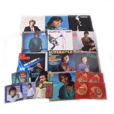 Lot 44-Cliff Richard; a very large collection of vinyl records.
