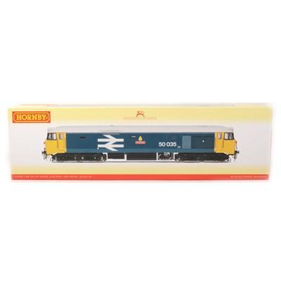 Lot 504 - Hornby OO gauge model railway locomotive; R2349 BR Co-Co diesel electric class 50 'Ark Royal', boxed
