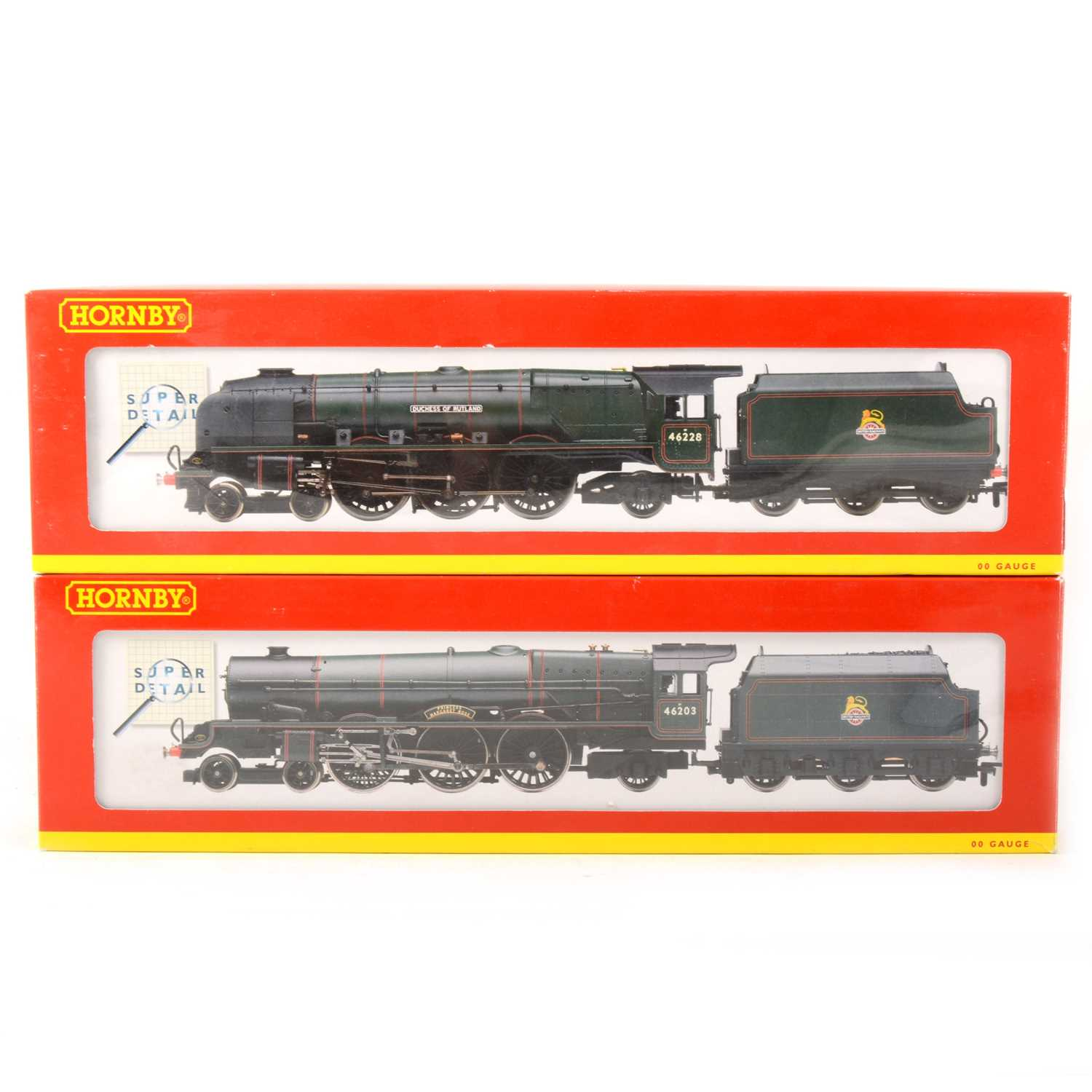 505 - Two Hornby OO gauge model railway locomotives, R2226 'Margaret Rose', R2231 'Duchess of Rutland'.