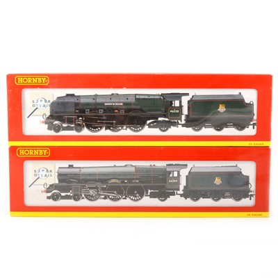 Lot 505 - Two Hornby OO gauge model railway locomotives, R2226 'Margaret Rose', R2231 'Duchess of Rutland'.
