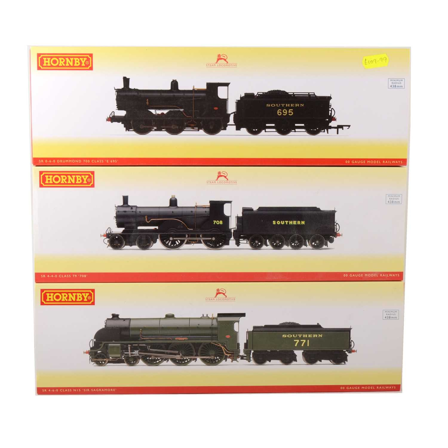 508 - Three Hornby OO gauge model railway locomotives, R3010, R3108 and R3238.