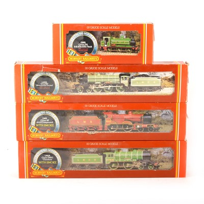 Lot 517 - Four Hornby OO gauge model railway locomotives, R396, R378, R376 and R053.