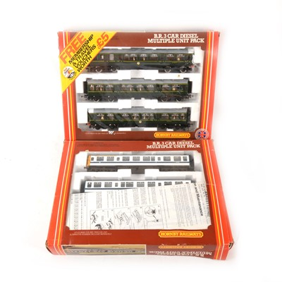 Lot 519 - Two Hornby OO gauge model railway multiple unit packs, R687 and R698