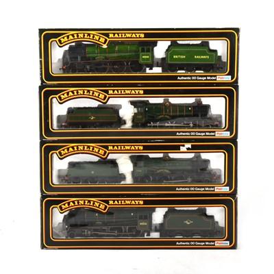 Lot 537 - Four Mainline Railways OO gauge model locomotives, 37-075, 937100, 37066, 37043.