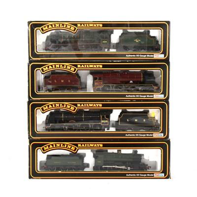 Lot 538 - Four Mainline Railways by Palitoy OO gauge model locomotives, 37-062, 37090, 37092, 37-056