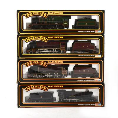 Lot 539 - Four Mainline Railways by Palitoy OO gauge model locomotives, 37047, 37-061, 37-060, 37-079.