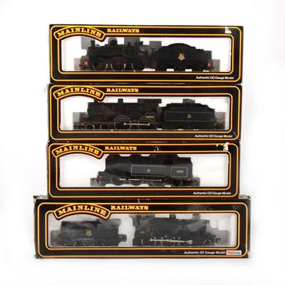 Lot 541 - Four Mainline Railways by Palitoy OO gauge model locomotives, 937515, 37091, 54157, 54155.