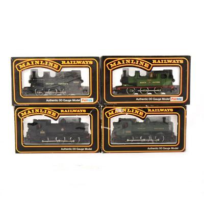 Lot 543 - Four Mainline Railways by Palitoy OO gauge model locomotives, 37-055, 69023, 37085, 37084.