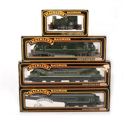 Lot 544 - Four Mainline Railways by Palitoy OO gauge model diesel locomotives, 37037, 37-064, 37041, 37-050