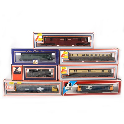 Lot 545 - Seven Lima OO gauge model railway locomotives, 205144, 205133,205169, 205143, 73142, 205142, 205110.