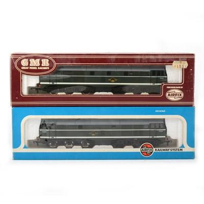 Lot 547 - Airfix OO gauge model railway diesel locomotives; two 54101-9 A1A-A1A class 31/1 BR greem D5531, different box designs.