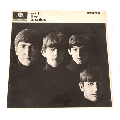 Lot 23A-The Beatles With the Beatles LP vinyl record; Mono 2nd pressing PMC 1206 matrix 447-7N/448-7N.