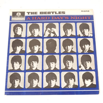 Lot 21-The Beatles A Hard Day's Night LP vinyl record; Mono first pressing PMC 1230 matrix 481-3N/482-3N, Emitex sleeve.