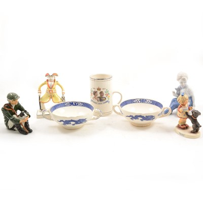 Lot 1029-Assorted china and teaware including Crown Derby and Royal Stafford