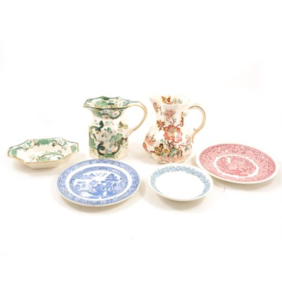Lot 1036-A quantity of Masons and Wedgwood pottery