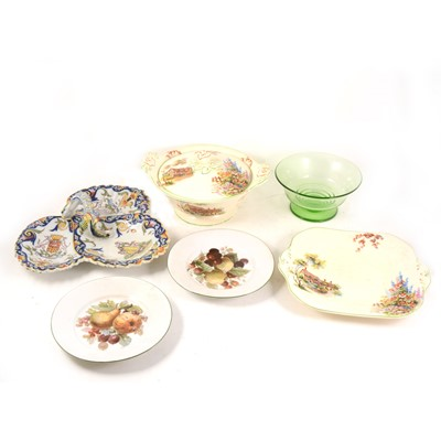 Lot 1015-Three boxes of assorted ceramics and glass