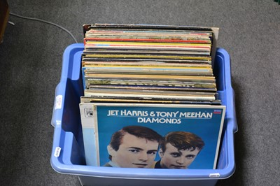 Lot 27-One box of mixed vinyl LP records; aprox seventy-two records.