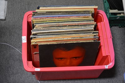 Lot 26-One box of mixed vinyl LP records; aprox sixty-seven