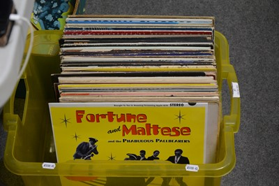 Lot 37-One box of mixed vinyl LP records; aprox sixty-nine