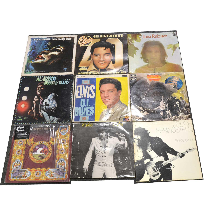Lot 13-One box of mixed vinyl LP records; aprox seventy-three